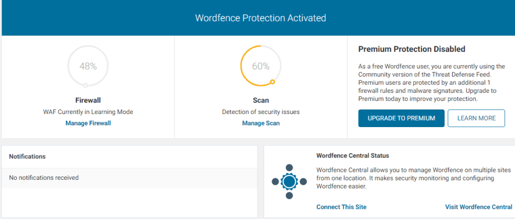 wordfence security- firewall and malware scan